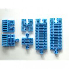 3D printed flexible railways for IKEA LILLABO.  // Elasyczne tory do kolejek IKEA LILLABO, druk 3D.