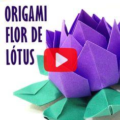 Essa Flor de Lótus em Origami é sem dúvida sensacional! Incrível como uma dobradura tão simples pode dar um efeito tão fantástico. Confira o passo a passo! #cristinaduarte07