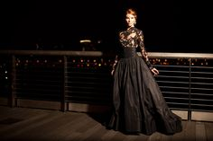 Black And White Wedding Dress Meaning Black White Wedding Dress, Black Wedding Gowns, Couture Wedding Gowns, Gothic Wedding, Mother Of The Bride Gown, Wedding Inspiration, Fashion Inspiration, Bridal Style, Wedding Styles