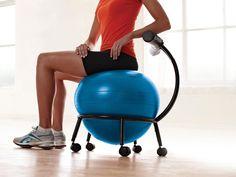 Custom-Fit Balance Ball Chair // I neeeeed this!