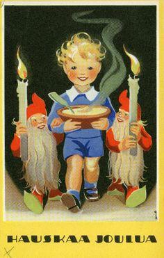 Hauskaa Joulua #joulu #tontut #christmascards Kirjavälitys Osakeyhtiön arkisto