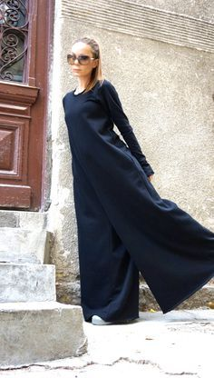 NEW AW Collection Black Cotton Wide Leg Maxi Jumpsuit by Aakasha #aakasha #jumpsuit #etsy