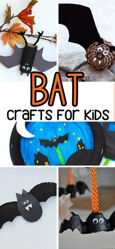 Bat Crafts for Kids for Halloween - adorable bat crafts kids can make!