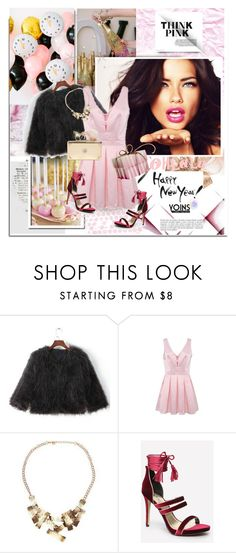 """Happy New Year 2016 with Yoins.com"" by hamaly ❤ liked on Polyvore featuring Bebe, Alexander McQueen, partydress, NewYearsEve, partystyle, happynewyear and yoins"