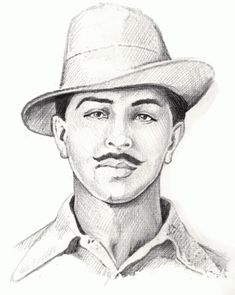 Bulls Clipart bhagat singh 25 - 800 X 1003 Pencil Sketch Portrait, Pencil Sketch Drawing, Portrait Sketches, Art Drawings Sketches Simple, Pencil Art Drawings, Vector Portrait, Bhagat Singh Wallpapers, Freedom Fighters Of India, Beauty Portrait