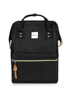 Casual Canvas Top Handle Backpack - Black