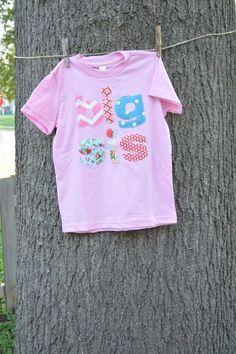 Big Sis Shirt - made using fabric scraps