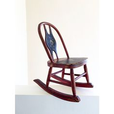 Antique Original Paint Miniature Primitive Rocking Chair Childrens... ($116) ❤ liked on Polyvore featuring children