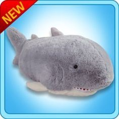 "Pee Wee Genuine Pillow Pet SHARK Small 11"" *** Find out more about the great product at the image link. (This is an affiliate link) #PlushPillows"