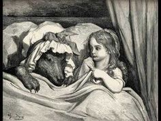 Little Red Riding Hood in Les Contes de Perrault illustrated by Gustave Dore (J Hetzel & Co, Paris, We have written about Dore - ask… Gustave Dore, Famous Fairies, Charles Perrault, Brothers Grimm, Big Bad Wolf, Christen, Illustrations, Book Illustration, Red Riding Hood