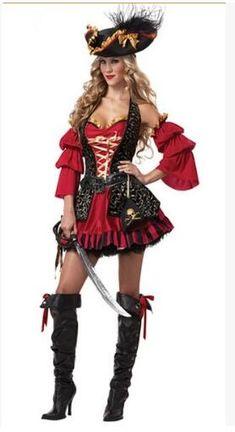 Pirate Costume Women Adult Halloween Costumes Fantasia Fancy Dress Caribbean Pirates Costume Carnival Performance Clothing #Pirate Halloween Costumes For Women http://www.ku-ki-shop.com/shop/pirate-halloween-costumes-for-women/pirate-costume-women-adult-halloween-costumes-fantasia-fancy-dress-caribbean-pirates-costume-carnival-performance-clothing/