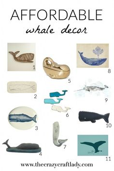 Shapes for charms? Love the whale trend in home decor? Don't want to break the bank? Check out this AMAZING list of AFFORDABLE whale decor! Coastal Style, Coastal Living, Coastal Decor, Whale Decor, Bank Check, Beach Cottages, Beach Houses, Nautical Home, Beach Crafts