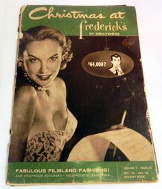 1950s Frederick's of Hollywood Rockabilly Bombshell Fashion Lingerie Sexy Catalog Christmas Holiday Volume 9 Issue 25 Dec 55 Jan 56 by RetroactiveAnnex on Etsy