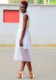Liz Madowo, lizmadowo.co.ke, style blogger, fashion blogger, kenyan fashion blogger, Caged skirt, All White Look,valentine's day
