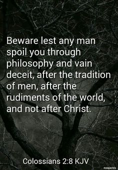 Beware of the traditions of men..those things have an appearance of goodness but lead to destruction just as Solomon who fell away from knowing God(Jesus).