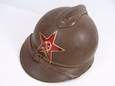 Russian  Adrian helmet. possibly used in the Bolsheviks revolution Russian civil  war 1917-1922. The separation of white and red Russians, fairly obvious who whore this helmet.