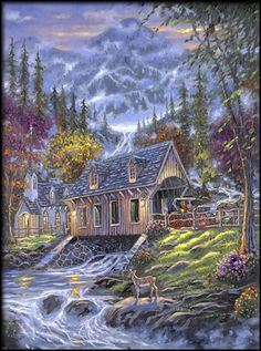 Bridge to Bountiful Blessings by Robert Finale ~ covered wooden bridge