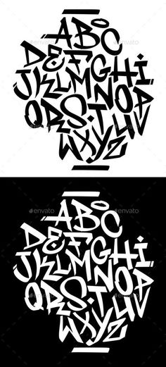Buy Handwritten Graffiti Font Alphabet by on GraphicRiver. Chisel tip handwritten graffiti font alphabet. Graffiti Text, Alphabet Poster, Graffiti Lettering Alphabet, Graffiti Alphabet Styles, Tattoo Fonts Alphabet, Reverse Graffiti, Graffiti Tattoo, Banksy Graffiti, Tattoo Lettering Fonts
