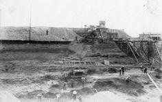 bouw stuw bij borgharen 1926