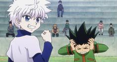 Killua & Gon Hunter X Hunter Hunter X Hunter, Hunter Anime, Gon Killua, Hxh Characters, Hyouka, Another Anime, Anime Screenshots, Pics Art, Anime Ships