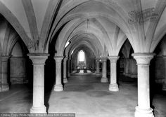 Rochester, The Cathedral, The Crypt c.1955, from Francis Frith