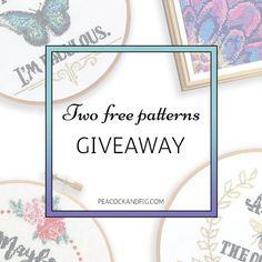 Win two free #crossstitch patterns!