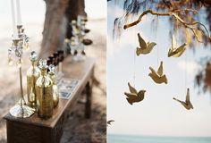 love the birds    beach wedding