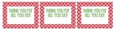 Thanks for all that you do....free printable