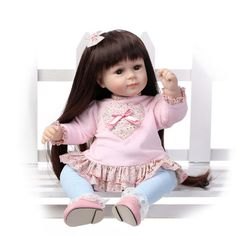 21'' Handmade Lifelike Baby Girl Doll Silicone Vinyl Reborn Baby Newborn Preemie | eBay