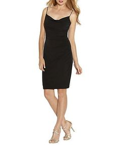 Laundry By Shelli Segal Cowl Neck Dress Women's Black 0