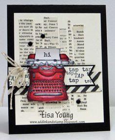 Stampin' Up! Tap, Tap, Tap stamp set. Handmade card by Lisa Young, Add Ink and Stamp