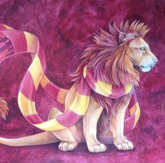 Gryffindor Mascot and Scarf