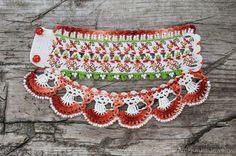 Crochet Bracelet Cuff. Bulgarian Embroidery by KaterinaDimitrova