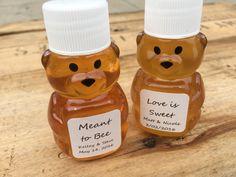 Custom Bridal Shower Honey Bear Favors Love by KlineHoneyBeeFarm