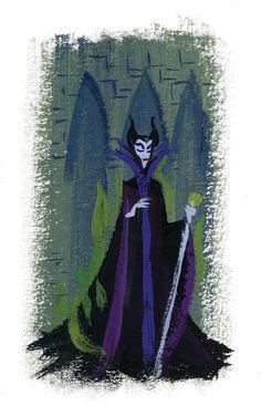 Maleficent by Lorelay Bove Sleeping Beauty Art, Sleeping Beauty Maleficent, Disney Concept Art, Disney Fan Art, Disney Disney, Disney Stuff, Disney Sketches, Disney Drawings, Animation Film