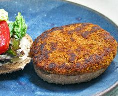 Quinoa Burger: I make these in my bender or food processor. I skip the flour. Totally not needed. And if you're missing a spice or two, it's a pretty forgiving recipe.