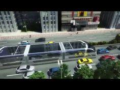 Chineses apresentam projeto de ônibus que passa por cima de carros!!