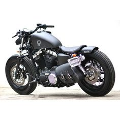 Studio Motor Custom Harley-Davidson Sportster Forty-Eight ❤ liked on Polyvore featuring car