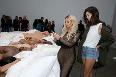 Kim Kardashian and Kendall Jenner attend Famous by Kanye West a private exhibition event at Blum And Poe, Los Angelesat Blum & Poe on August 26, 2016 in Los Angeles, California.