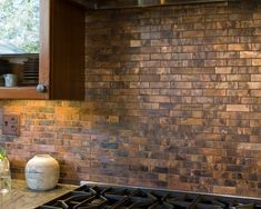 copper backsplash | Copper Backsplash. | Decorating Ideas