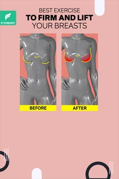 You can strength train your chest muscles to increase their mass, which will, in turn, make your whole chest look fuller and bigger. So give it a try to these exercises to lift your breasts naturally. Fitness Workouts, Gym Workout Tips, Fitness Workout For Women, Hip Workout, Health And Fitness Tips, Workout Videos, Chest And Back Workout, Chest Muscles, Body Workout At Home