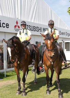 The mounted police at Badminton Three Day Event.