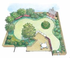 Eplans Landscape Plan - An Edible Landscape from Eplans - House Plan Code HWEPL11985