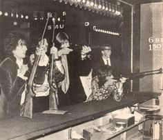 Pink Floyd takes a few shots at a Tivoli arcade booth