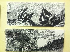 """8th Grade """"High-End Doodling"""" drawing project. Designed with sharpie markers to focus on pattern, rhythm, and contrast."""