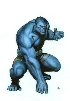 Adi Granov Kotobukiya Marvel Now Beast statue design, in Alan N's Adi Granov Comic Art Gallery Room Marvel Comic Character, Comic Book Characters, Comic Book Heroes, Marvel Characters, Comic Books Art, Comic Art, Marvel Dc, Marvel Comics Art, Marvel Comic Universe