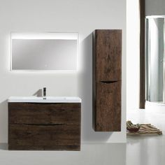 Morenobath Smile 48 in. Free Standing Single Sink Bathroom Vanity with 2 Drawers - SMF1200S-RW
