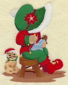 sunbonnet sue | ... Designs at Embroidery Library! - Santa's Workshop Sunbonnet Sue
