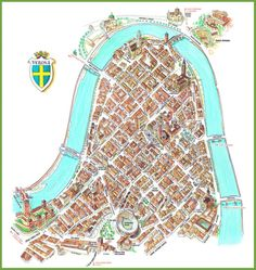 Verona tourist attractions map Maps Pinterest Verona Italy