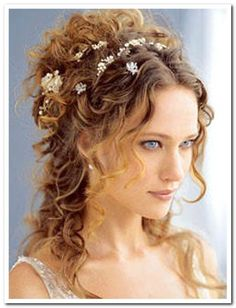 Apr 2019 - Curly wedding hair ideas to find your favorite looks for you, your . An oversized flower crown pairs well with this bohemian brides dark curly hair. See more ideas about Curly wedding hair, Wedding hairstyles and Dark curly hair. Curly Hair Styles, Long Curly Hair, Natural Hair Styles, Long Curly Wedding Hair, Thin Hair, Modern Hairstyles, Wedding Hairstyles For Long Hair, Beach Hairstyles, Hairstyle Photos